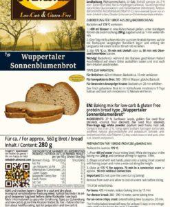 low carb gluten free bread mix wuppertaler sunflower paleo keto