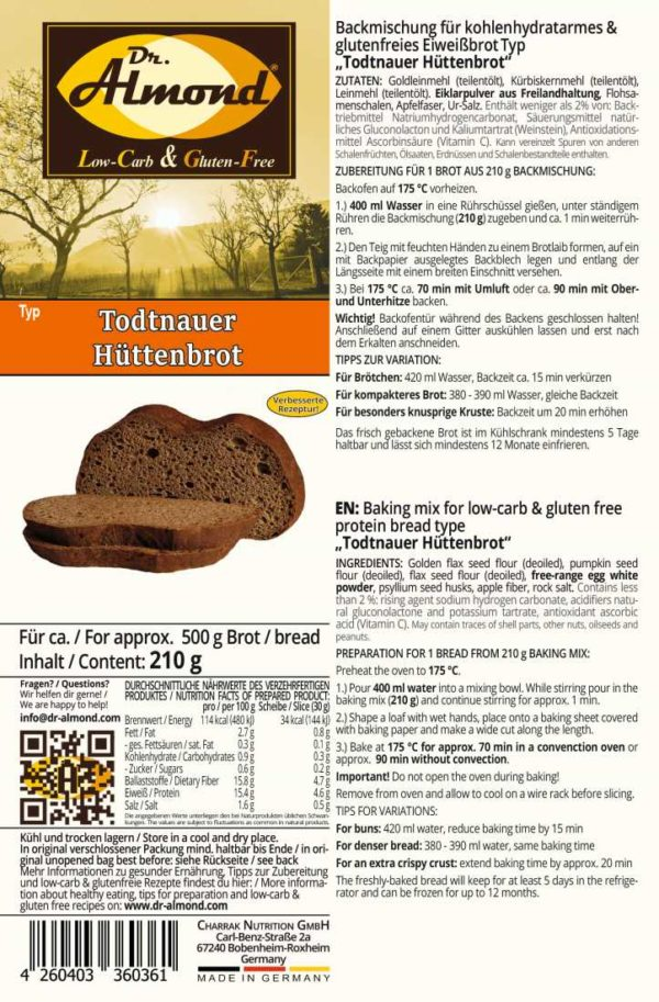 todtnauer lodge bread paleo low carb gluten free protein bread keto nut free low calorie