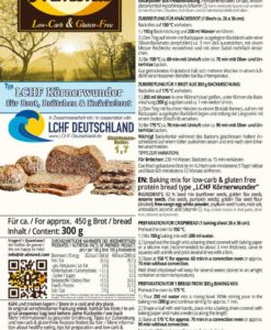 LCHF Koernerwunder Seed Wonder low carb gluten free soy free keto paleo protein bread zero carbs