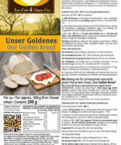 Our Golden Bread low carb gluten free paleo protein bread baking mix
