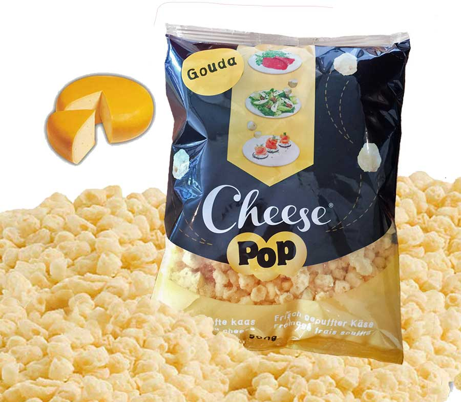 Cheesepop Gouda 100 % Puffed Cheese, no additives 500 g XXL-bag The perfect low carb & keto snack