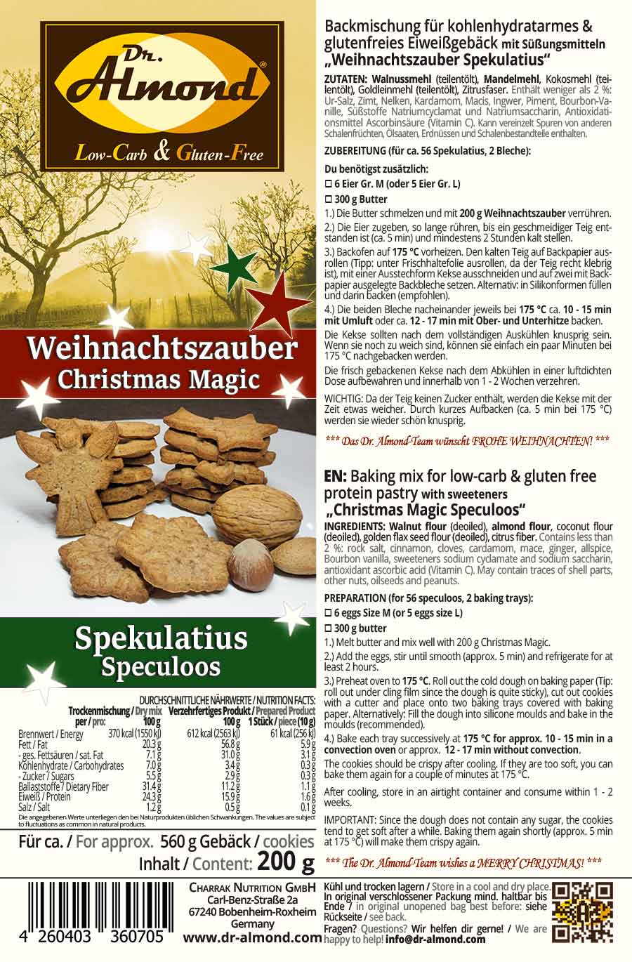 Christmas Magic Speculoos Christmas Cookies Low Carb Keto Gluten Free Baking Mix Limited Edition