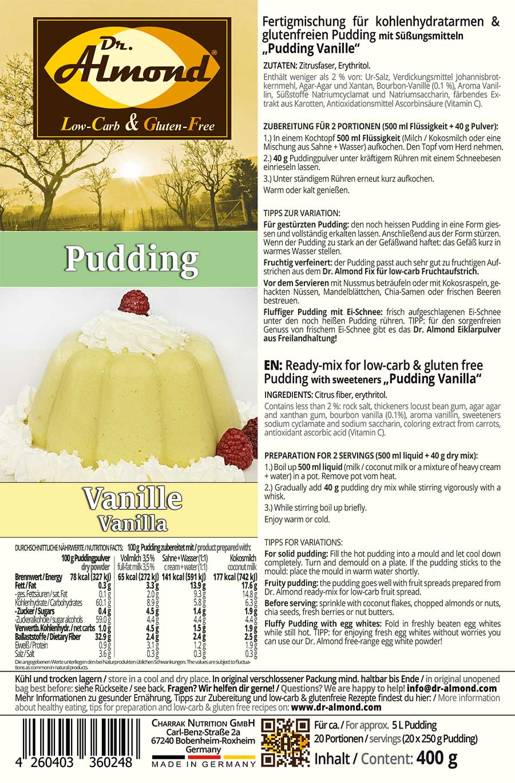 Pudding Vanilla Low Carb Glutenfrei Keto Pudding Powder