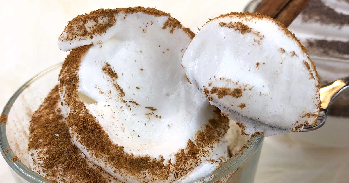 Recipe Protein Cream Protein Fluff Egg White Fluff low-carb keto low-cal NO IMOs