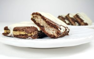 Recipe Cocoa Slice with Hazelnut Filling low-carb gluten-free