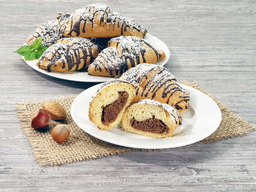 Recipe Nut-Nougat Croissants low-carb gluten-free