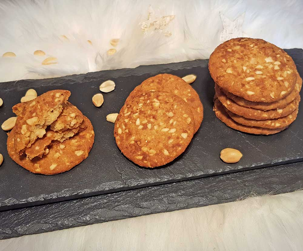 Recipe Peanuts Caramel Cookies low-carb keto gluten-free