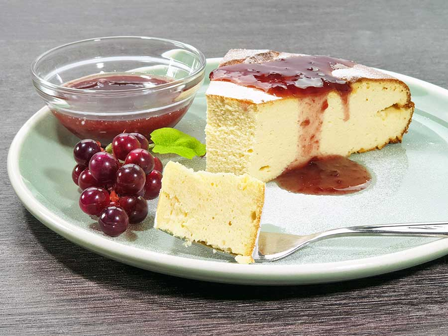 Recipe Protein Collagen Cheesecake CLASSICAL lowcarb gluten free low calorie