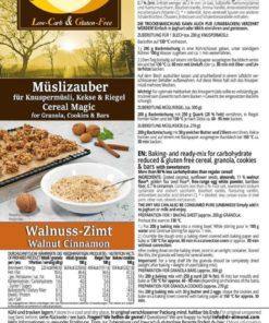 Cereal Magic WALNUT CINNAMON low carb gluten free keto granola mix