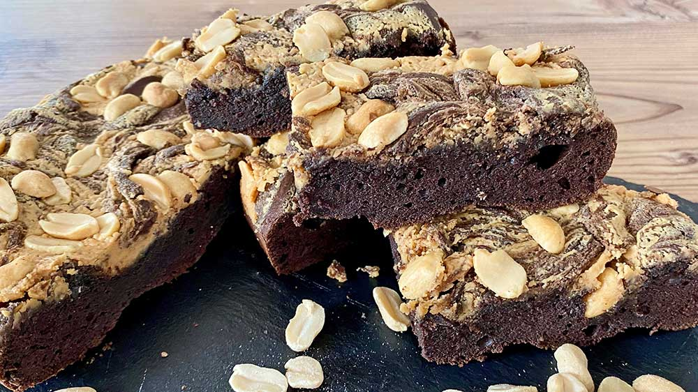 Recipe peanut butter brownies lowcarb gluten free keto